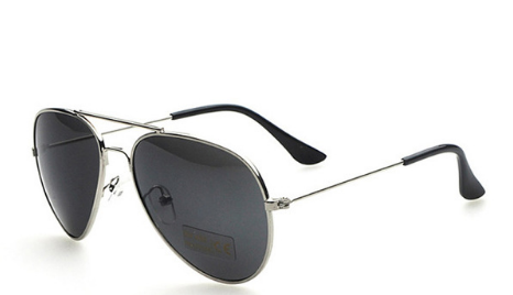 Black Lens Silver Frame Sunglasses Unisex Boys Girls Kids Toddler Children Infant Baby Clothes