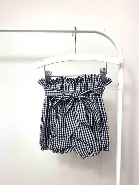 Barcelona Black & White Gingham Bubble Short