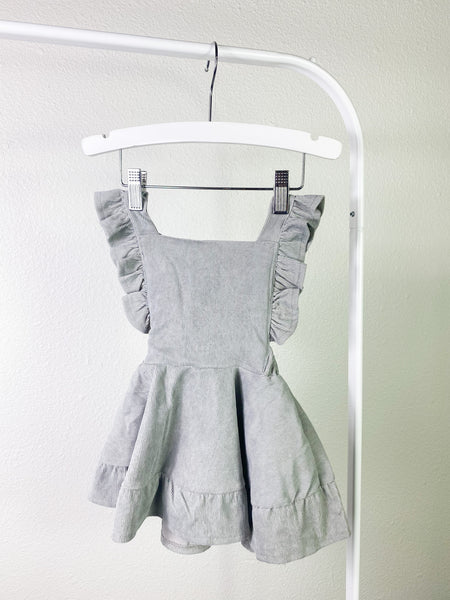 Madison Corduroy Bib Dress