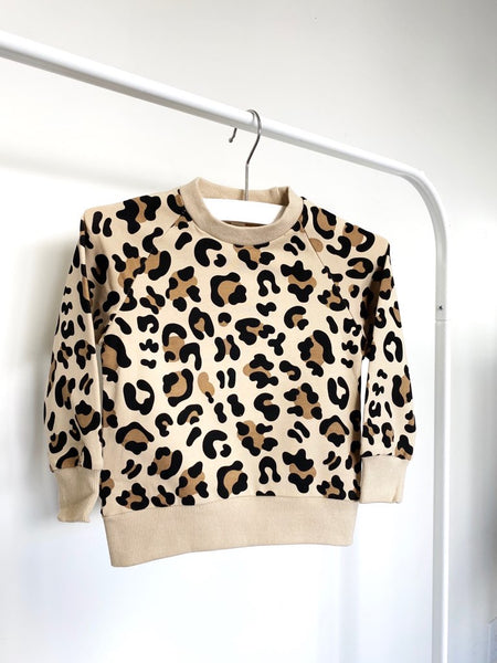 Animal Print Pullover Sweatshirt