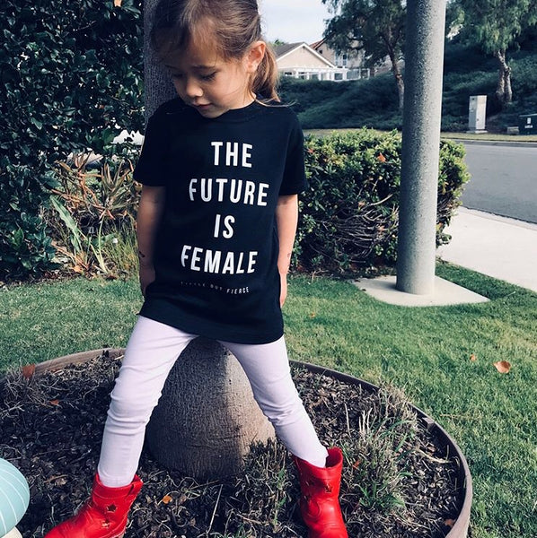 The Future Is Female Kids Top (Black) - Exclusively Ours
