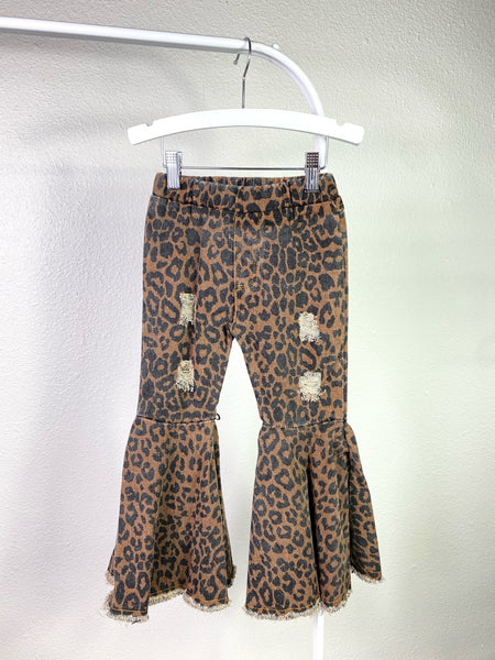 Mali Animal Print Bell Bottom