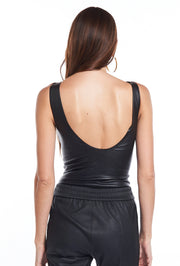 Black Leather Bodysuit SPRWMN, Back