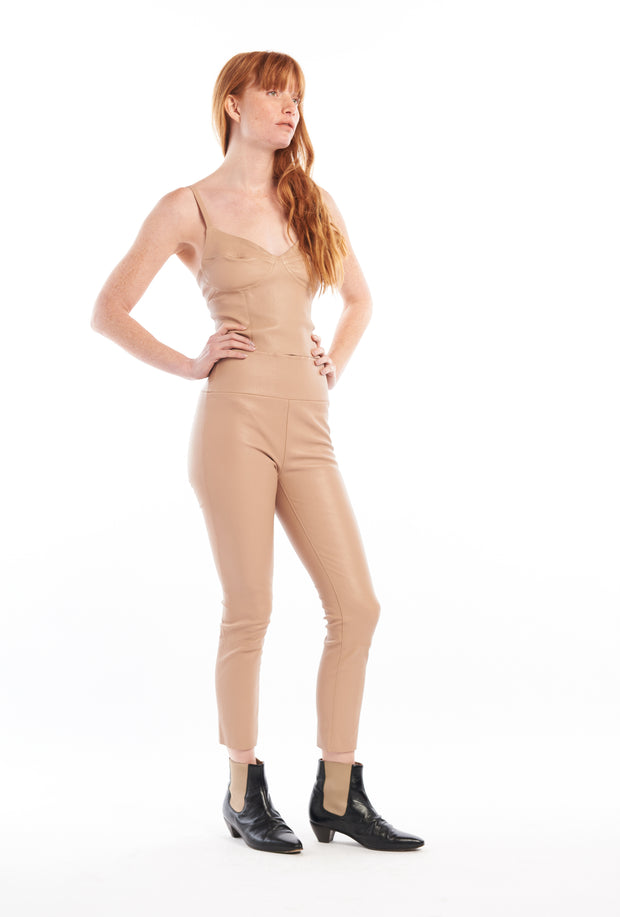 Tan Capri Leather Legging