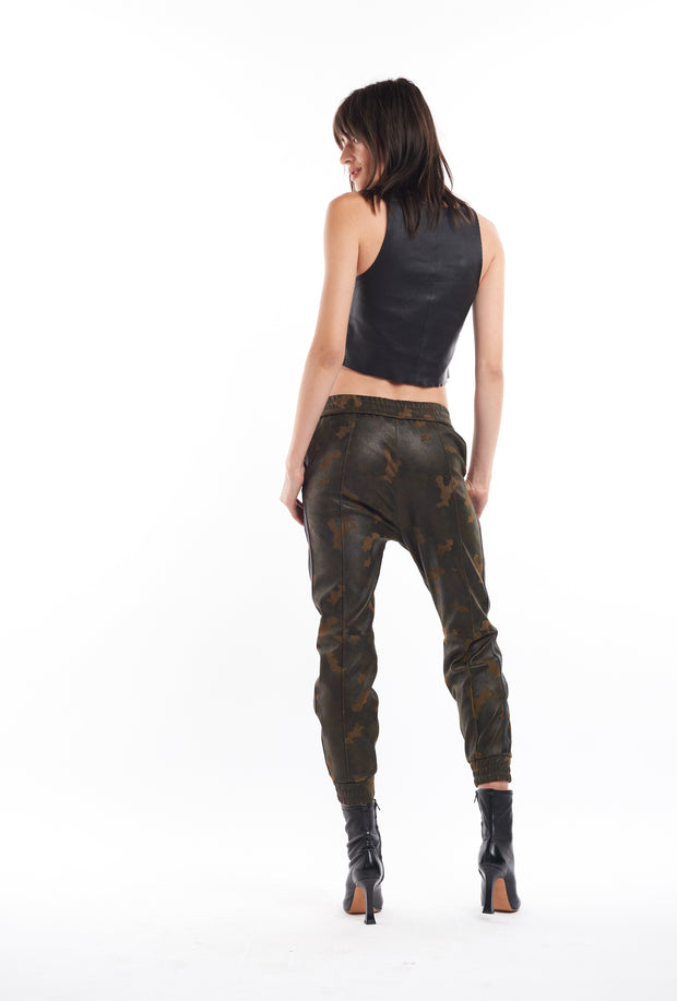 Camo Athletic Slim Fit Suede Joggers