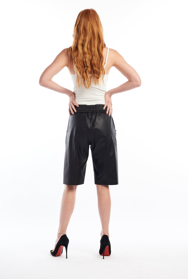 Black Leather Boxer Shorts