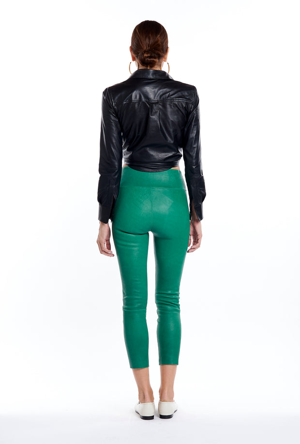 Evergreen Ankle Leather Leggings