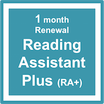 Reading Assistant Plus (RA+) - Subscription Renewal – 1 Month