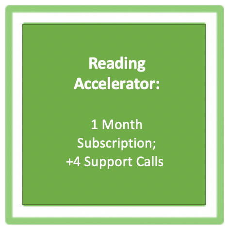 Reading Accelerator: 1 Month Subscription; includes four support calls