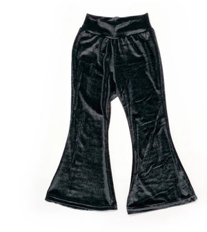 Black velvet corduroy bellbottoms