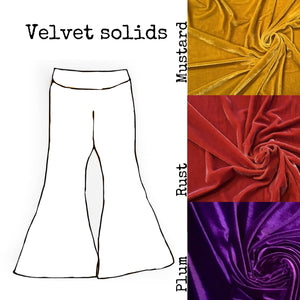 velvet bellbottoms