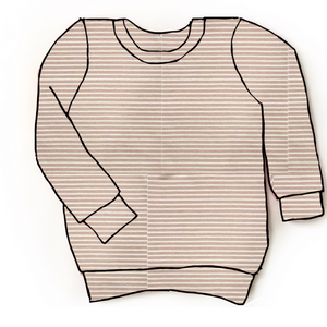 Dusty Rose striped pullover