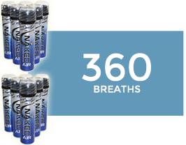 Pure Personal Canned Oxygen by O2 Naked Air ( 12 Can Pack  )