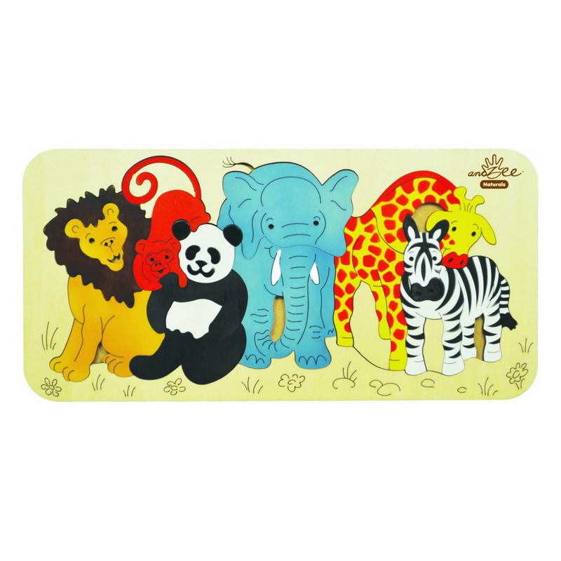 andZee Zoo Animals Raised Puzzle