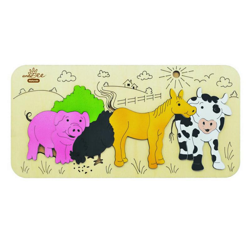 andZee Farm Animals Raised Puzzle