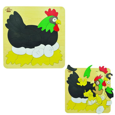 andZee Chicken & Egg Double Layer Puzzle