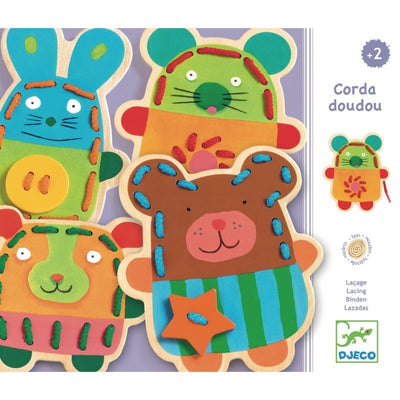 Djeco Cuddly Lacing Animals Box