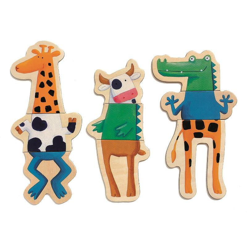 Djeco Magnetic Crazy Animals