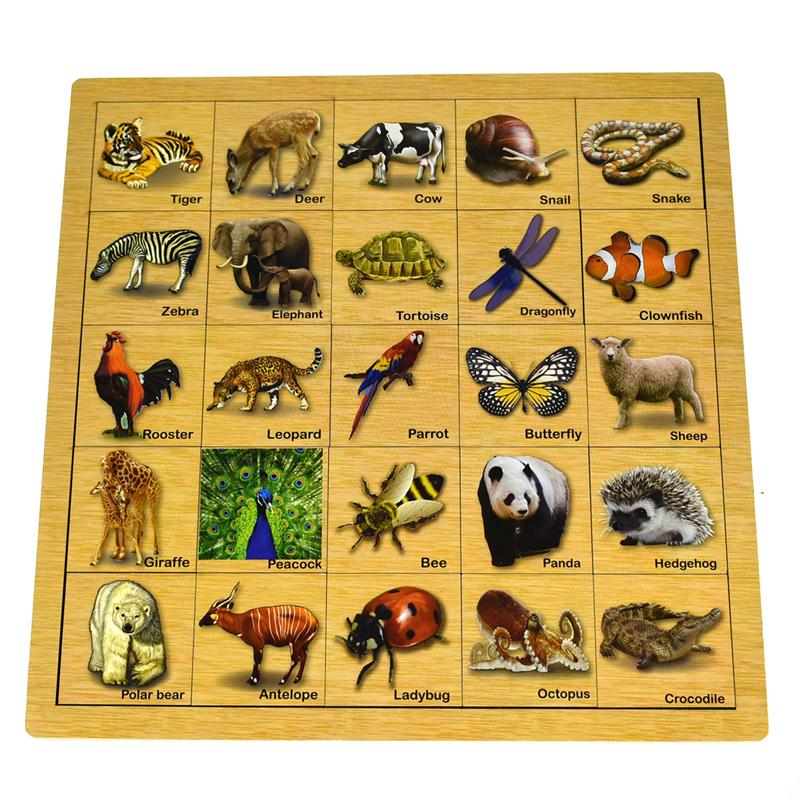KaperKidz Matching Puzzle Animal Skin