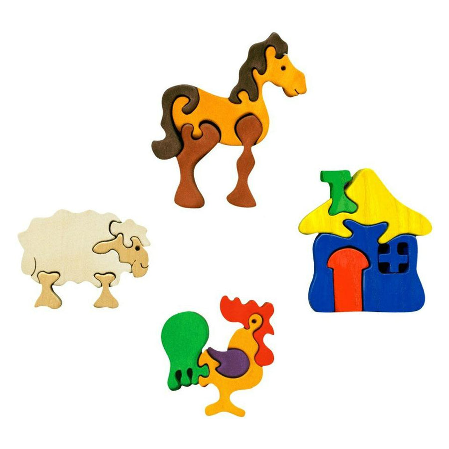 Fauna Mini Puzzle Set - Farm