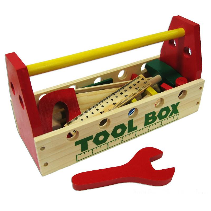 Toolbox with Wooden Tools