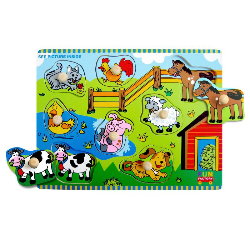 Fun Factory Farm Knob Puzzle