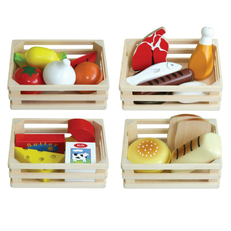 Food Crates Set of 4