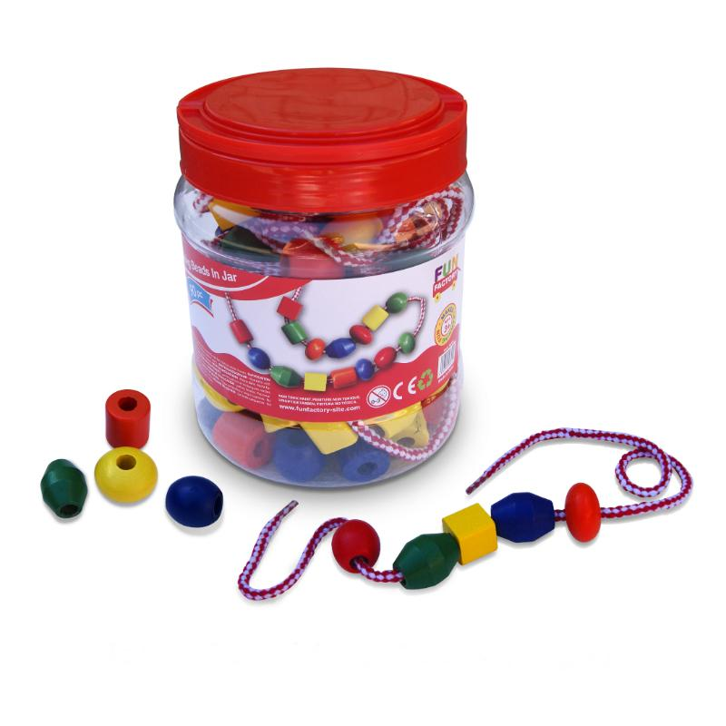 Fun Factory Lacing Beads in a Jar - 90pc