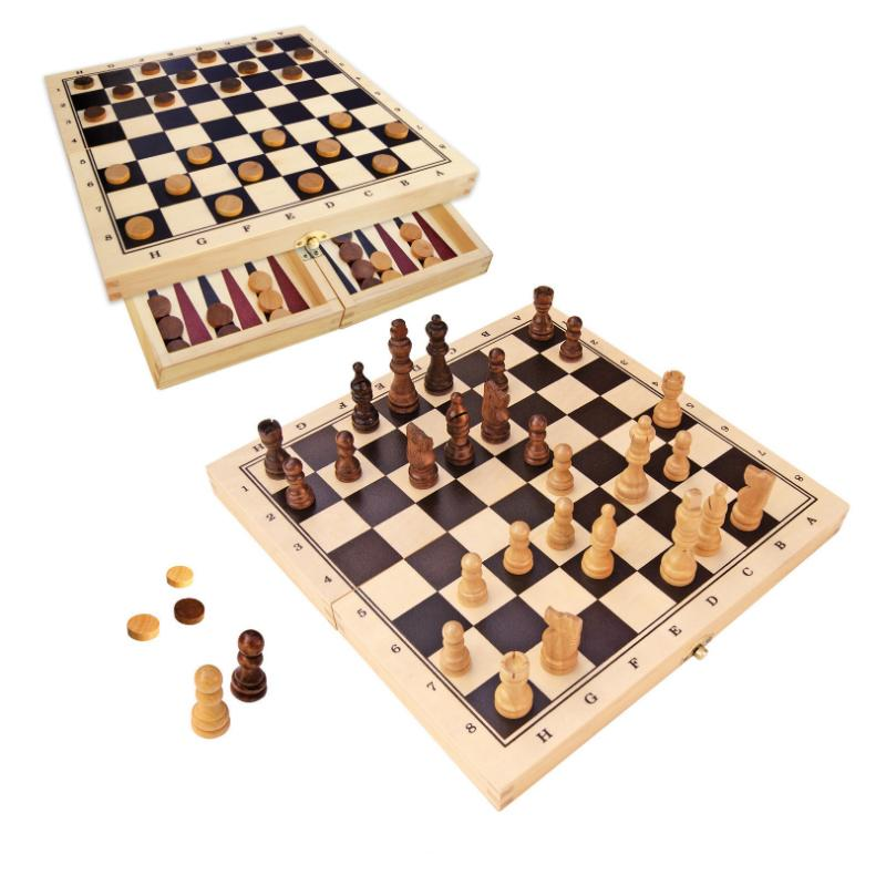 Fun Factory Chess & Checkers - Fold Up Set