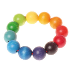 Rainbow Bead Grasping Ring