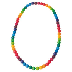Rainbow Beads - 66cm Necklace