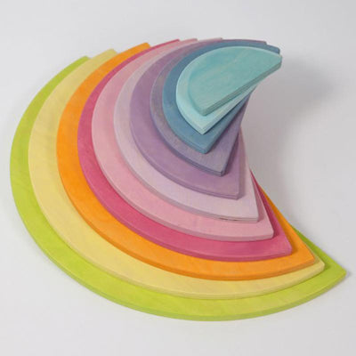 Grimm's Wooden Large Pastel Semi-circles 2