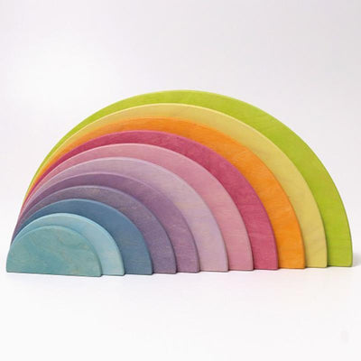 Grimm's Wooden Large Pastel Semi-circles Rainbow