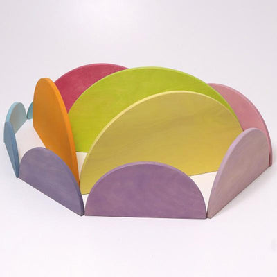 Grimm's Wooden Large Pastel Semi-circles 3