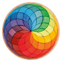 Mandala Circle Coloured Spiral