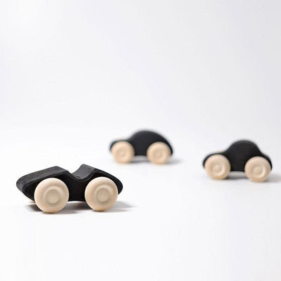 Grimm's Monochrome Wooden Cars x3