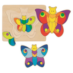 4 Layer Butterfly Puzzle
