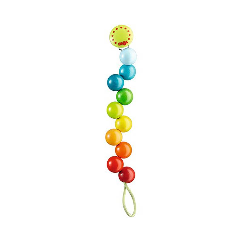 Haba Pacifier Chain Rainbow Pearls