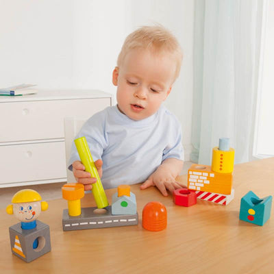Haba Pegging Game Building Site Toddler