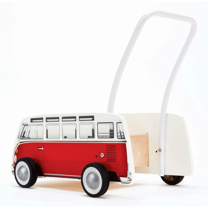 Hape Classical Bus Walker - Red