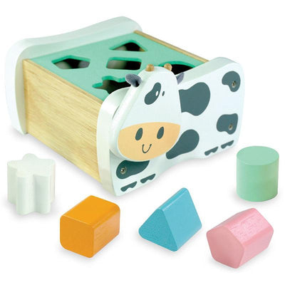 I'm Toy Cow Geo Shape Sorter Pastel Shapes Out