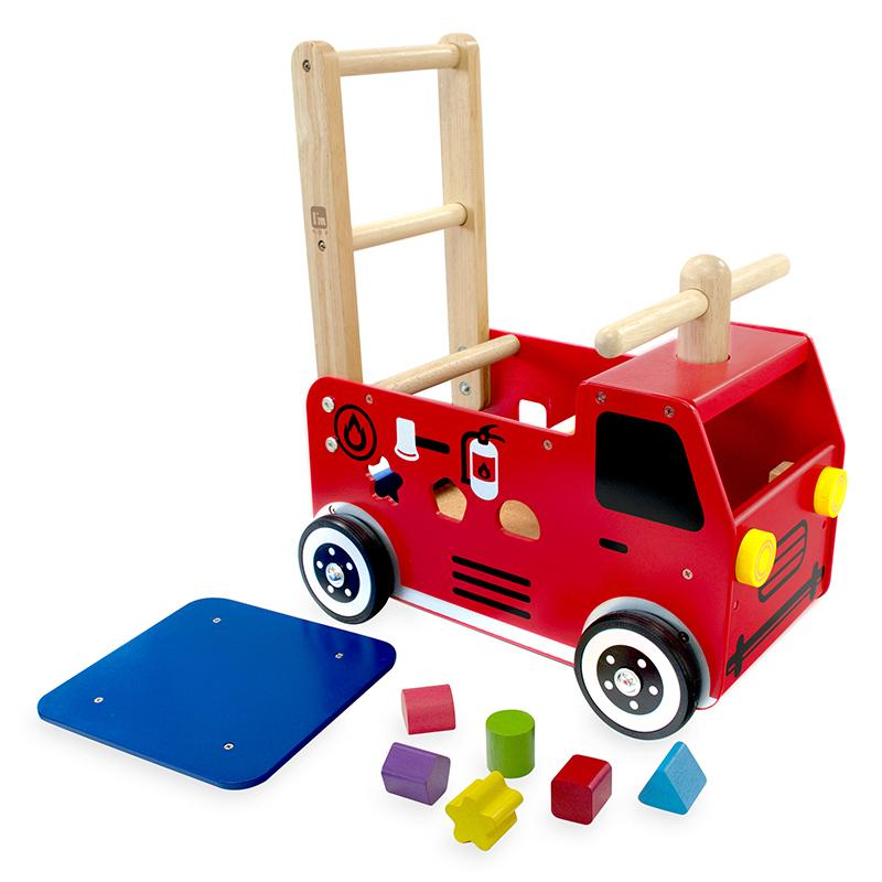 ImToy Walk /& Ride Fire Engine push wagon