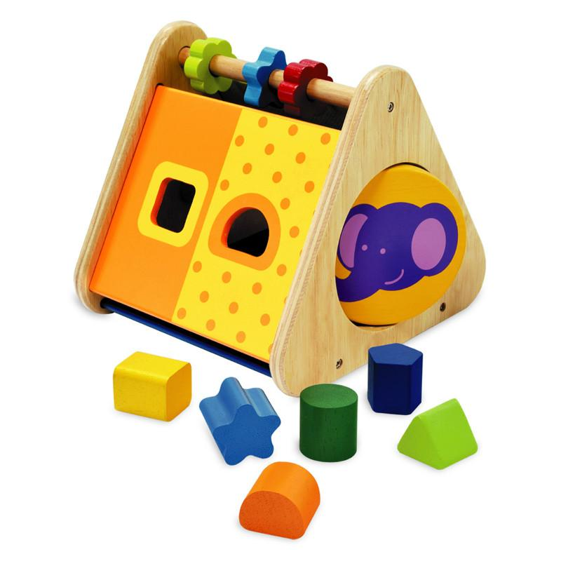 I M Toy Triangle Activity Wooden Toddler Toy Wooden