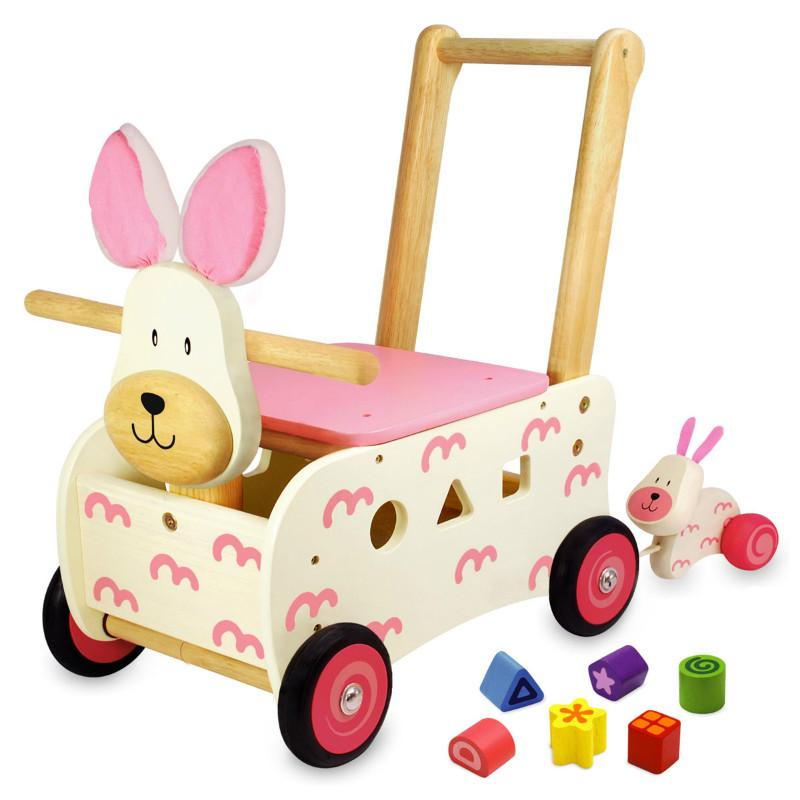Walk Amp Ride Bunny Sorter Wooden Walker And Ride On In 1