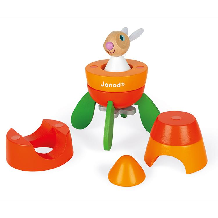 Janod Wooden Magnetic Carrot Rocket