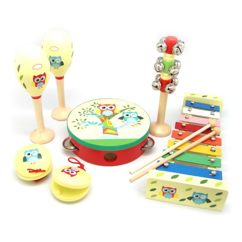 Kaper Kidz Owl 7 Piece Musical Set