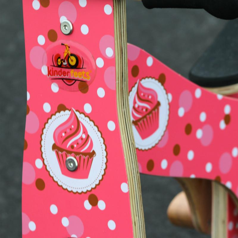 Kinderfeets Retro Balance Bike - Cupcake