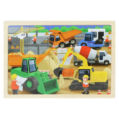 Masterkidz Construction Wooden Puzzle
