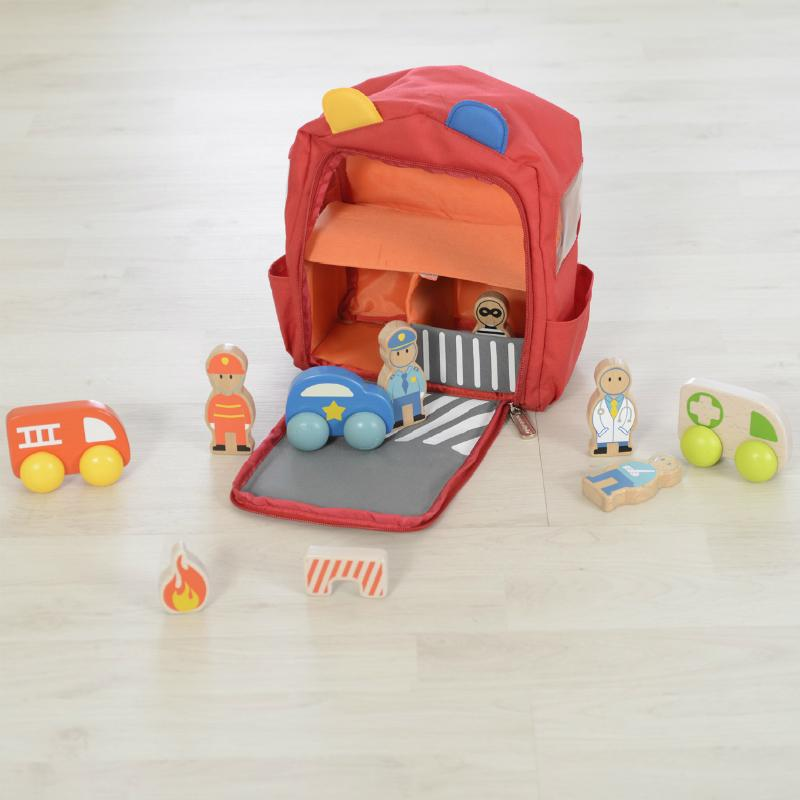 Masterkidz Emergency Services Backpack Playset