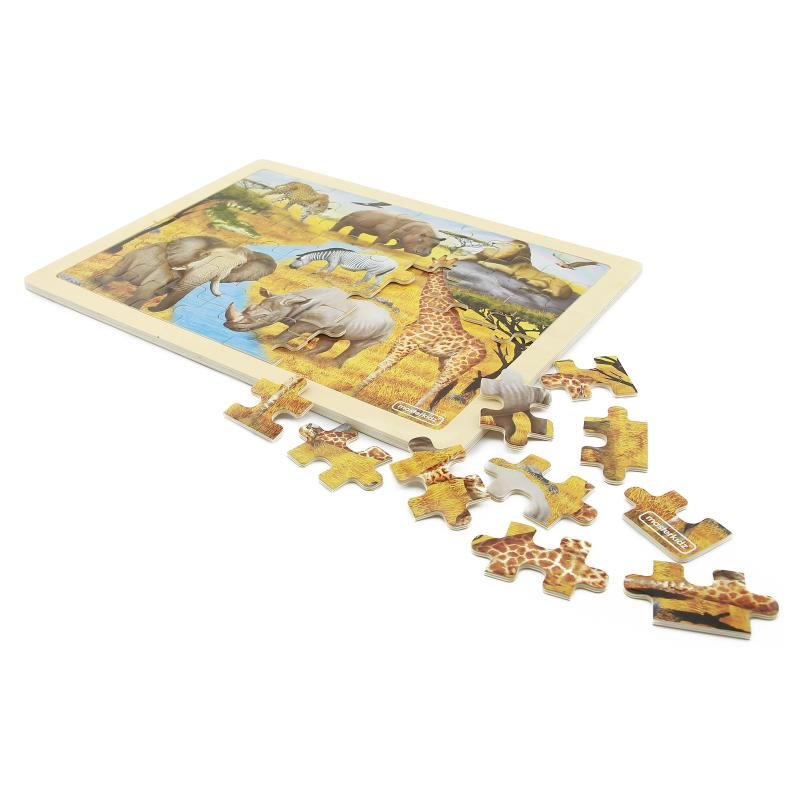 African Forest 48 Piece Jigsaw Puzzle *
